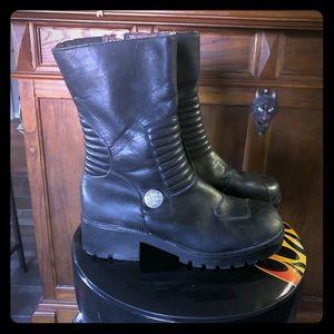 Black Harley Davidson boots 10